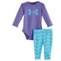 Under Armour Girls Newborn UA Prism Icon Bodysuit Set