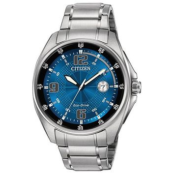 Citizen DRIVE WDR Mens Sport Watch - Blue Dial - Stainless Steel - Bracelet
