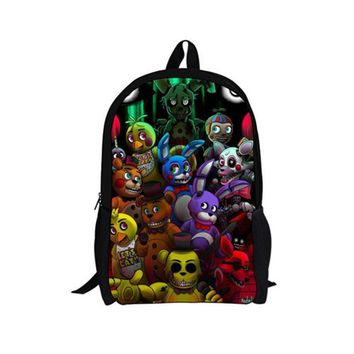 FORUDESIGNS Teenager Boys Girls Cartoon Gravity Falls Backpacks,Five Nights At Freddys Kids Backpack,Children Ladybug Back Bag