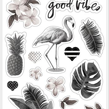 Heidi Swapp Pineapple Crush Clear Stickers-