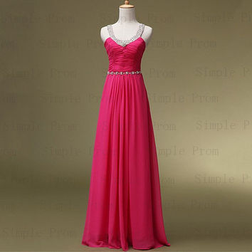 Custom Aline Jewel Floorlength Sleeveless Chiffon by SimpleProm