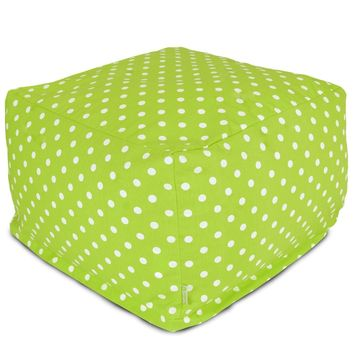 Lime Small Polka Dot Large Ottoman