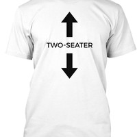 Two Seater T-shirt Funny Social Meme Tee