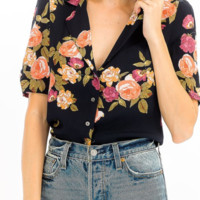 'SOUTHERN BELLE' FLORAL BUTTON UP SHIRT