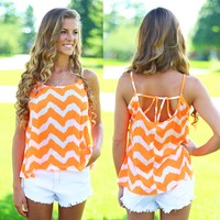 Go Bold Or Go Home Chevron Top