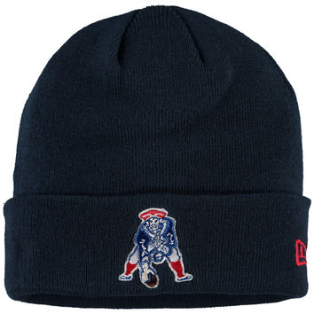 Men's New England Patriots New Era Navy Solid Cuffed Knit Hat