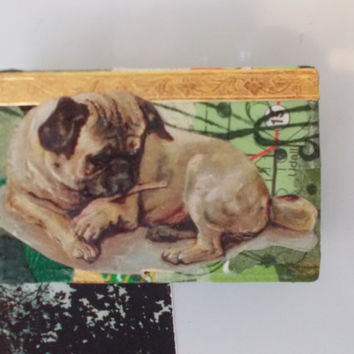 Cute Handmade Green Fridge Magnet for Dog Lovers
