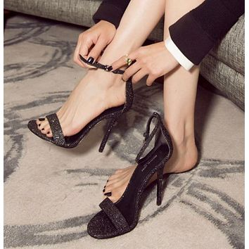 Ankle Strap Peep Toe Fashion Women High Heels Shoes