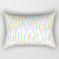 Hello Spring Pastel Pattern Rectangular Pillow by Allyson Johnson | Society6