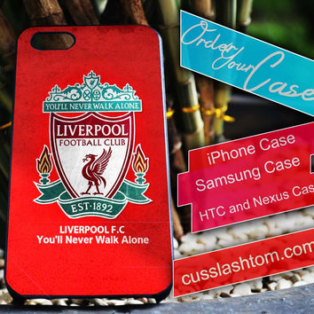 Exclusive Liverpool iPhone for 4 5 5c 6 Plus Case, Samsung Galaxy for S3 S4 S5 Note 3 4 Case, iPod for 4 5 Case, HtC One M7 M8