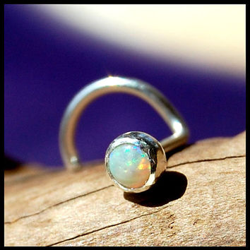 Opal (genuine / natural) Nose Stud 3mm - CUSTOMIZE