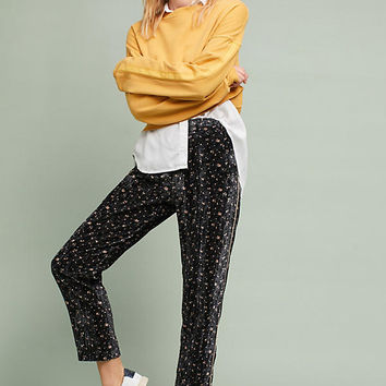Printed Velvet Trousers