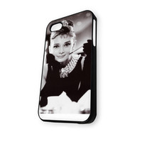audrey hepburn in breakfast iPhone 4/4S Case