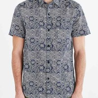 Koto Mosiac Print Breezy Button-Down Shirt