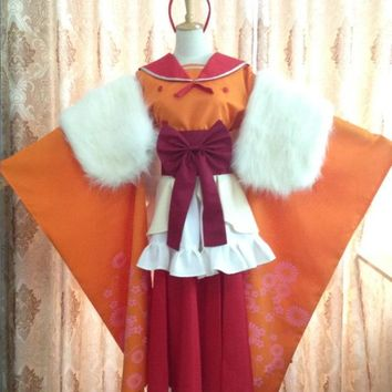 Anime Pokemon Flareon Cosplay Costume Halloween Uniform Outfit  Full Set