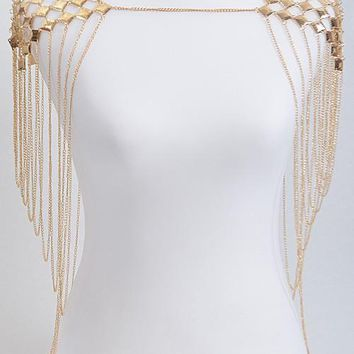Shoulder Fringe Body Chain