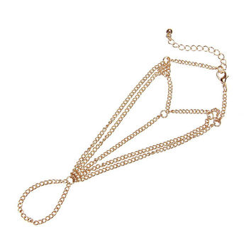 Gold Multi Chain Hand Harness