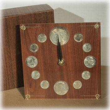 Peace Dollar Silver Coin Clock by Century 1922 Silver Dollar Original Box