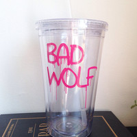 Bad wolf 16oz double wall tumbler travel cup