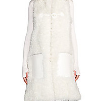 Fendi - Shearling Fur & Leather Vest - Saks Fifth Avenue Mobile