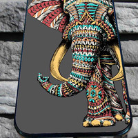 ornate elephant for iPhone 4/4s, iPhone 5/5S/5C/6, Samsung S3/S4/S5 Unique Case *76*