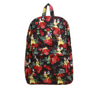 Loungefly Disney Beauty And The Beast Belle Rose Print Backpack