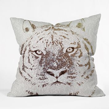 Belle13 The Intellectual Tiger Throw Pillow