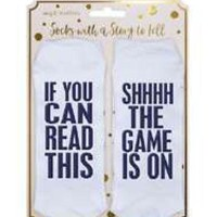 If You Can Read This..SHH The Game Is On Argyle Statement Socks by Simply Southern