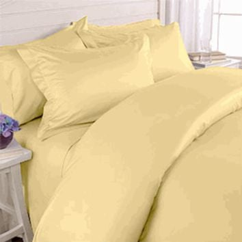 "Gold 550TC Olympic Queen Solid Bed in A Bag 90x92"" Egyptian cotton With Down Alternative Comforter"