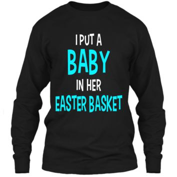 Funny Pregnancy Announcement Dad Easter Baby Announcement LS Ultra Cotton Tshirt