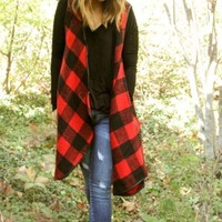 """Davy"" Buffalo Plaid Vest - FINAL SALE!"
