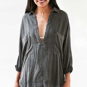 Silence + Noise Heffe Pullover Tunic Shirt - Urban Outfitters