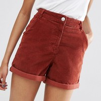ASOS | ASOS Cord Tailored Short in Rust at ASOS