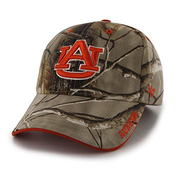 NCAA Auburn Tigers Frost Mvp Adjustable Hat, One Size, Realtree Camouflage