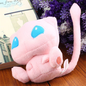 1pcs pink Cute Pokemon Rare Mew polyester Plush Soft Doll Toy Gift 2015 Hot