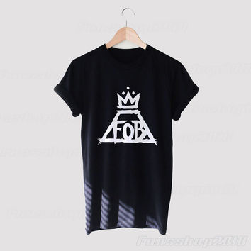 Fall Out Boy FOB Logo Black White Unisex T Shirt
