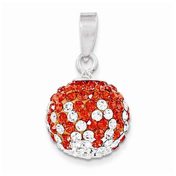 Sterling Silver Swarovski Elements Austin Spirit Ball Pendant