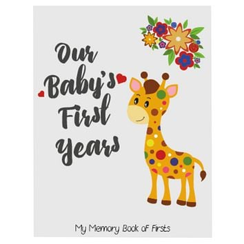 Novarena Little Jungle and Farm Animals Lover Baby Memory Book with 48 milestones stickers- First 5 Years