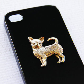 Chihuahua Stylish Apple Iphone4 and 4S Black Plastic Ultra Glossy Cell Cover iPhone 6 Case