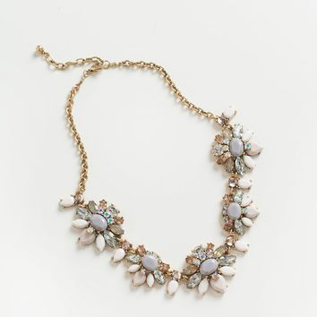 Scarlett Lavender and Blush Statement Necklace