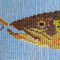 Loom Beaded Brown Trout Fish Art