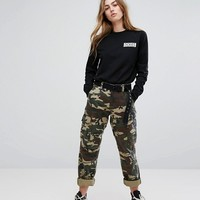 Dickies Boyfriend Cargo Trousers In Camo at asos.com
