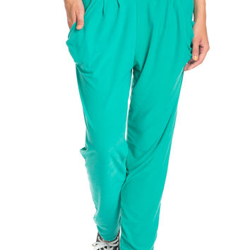 Mint Cozy Harem Jogger Pants