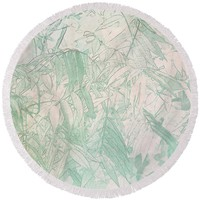 Soft Green Leaves Round Beach Towel for Sale by Susan Eileen Evans
