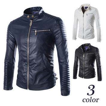 Stylish Men's Leather Road Jacket