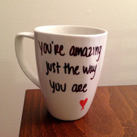 "Bruno Mars ""Just The Way You Are"" lyric mug"