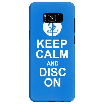 keep calm and disc golf on target frisbee basket Samsung Galaxy S8