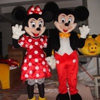 Minnie and Mickey Mouse Mascot Costume Adult Size