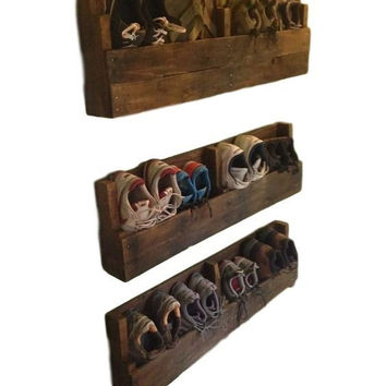 Reclaimed Wood Shoe Rack