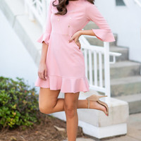 Always So Peppy Dress, Blush